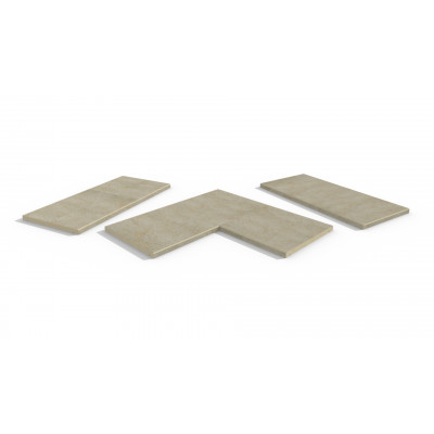 Golden Stone Porcelain 5mm Chamfered Coping Stones