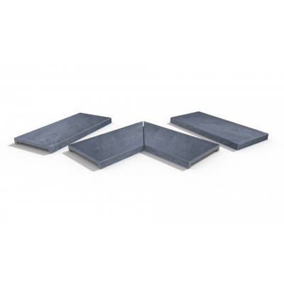 Kirkby Porcelain 40mm Downstand Coping Stones