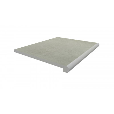 Light Grey Porcelain 40mm Bullnose Step