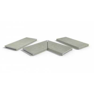 Light Grey Porcelain 40mm Downstand Coping Stones