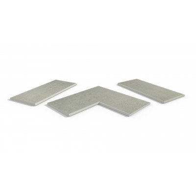 Light Grey Porcelain 20mm Bullnose Coping Stones