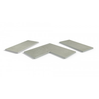 Light Grey Porcelain 5mm Chamfered Coping Stones
