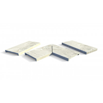 Marble Grey Porcelain 40mm Downstand Coping Stones
