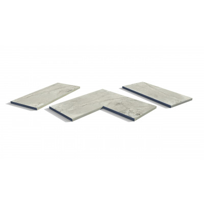 Marble Grey Porcelain 5mm Chamfered Coping Stones