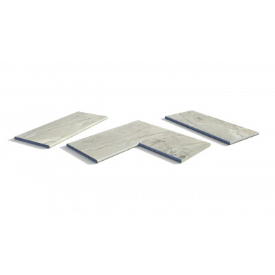 Marble Grey Porcelain 20mm Bullnose Coping Stones