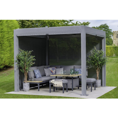 Light Grey Metal Pergola