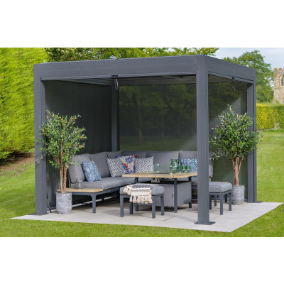 Dark Grey Metal Pergola