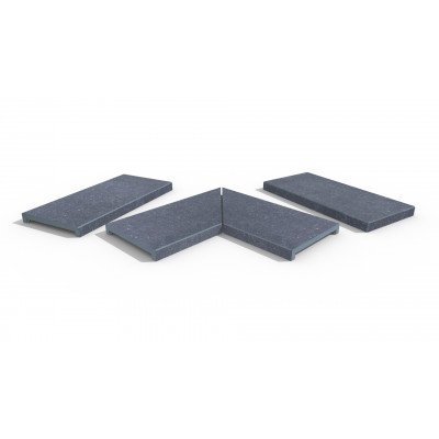 Pierre Blue Porcelain 40mm Downstand Coping Stones