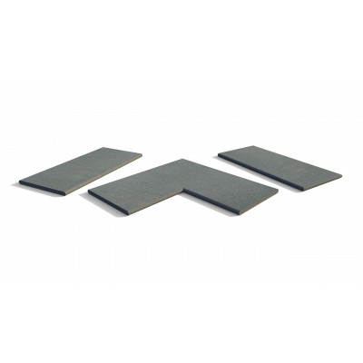 Platinum Grey Porcelain 20mm Bullnose Coping Stones