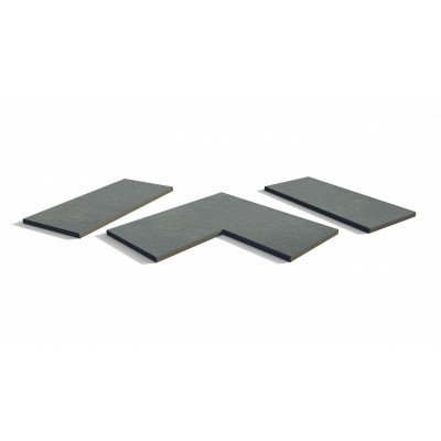 Platinum Grey Porcelain 5mm Chamfered Coping Stones