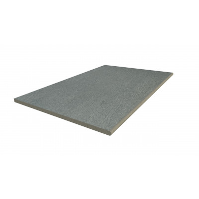 Platinum Grey Porcelain 20mm Bullnose Step