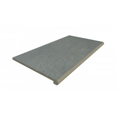 Platinum Grey Porcelain 40mm Bullnose Step