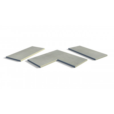 Polished Concrete Porcelain 5mm Chamfered Coping Stones