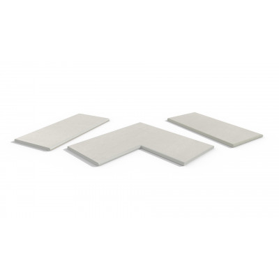 Sandy White Porcelain 20mm Bullnose Coping Stones