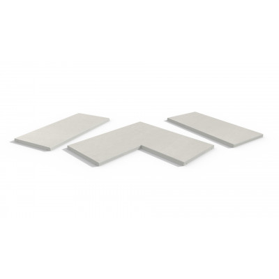 Sandy White Porcelain 5mm Chamfered Coping Stones