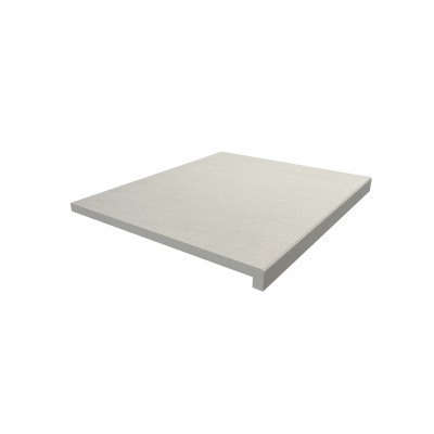 Sandy White Porcelain 40mm Downstand Step