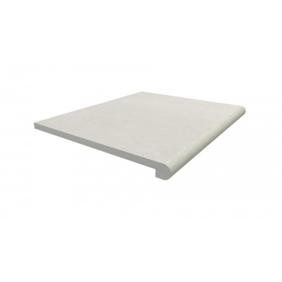 Sandy White Porcelain 40mm Bullnose Step