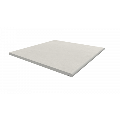 Sandy White Porcelain 20mm Bullnose Step