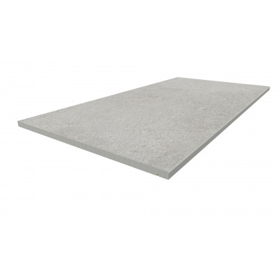 Silver Grey Porcelain 5mm Chamfered Step