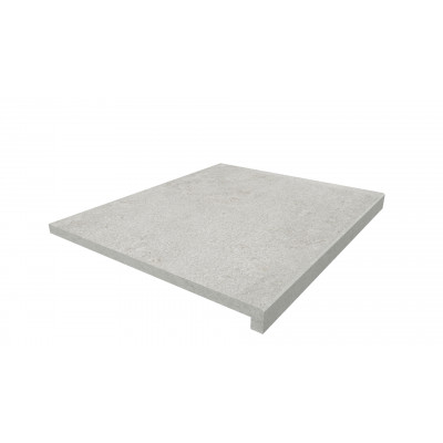 Silver Grey Porcelain 40mm Downstand Step