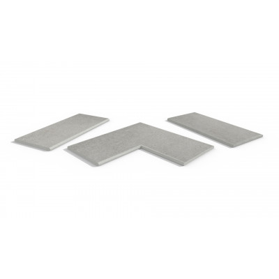 Silver Grey Porcelain 20mm Bullnose Coping Stones