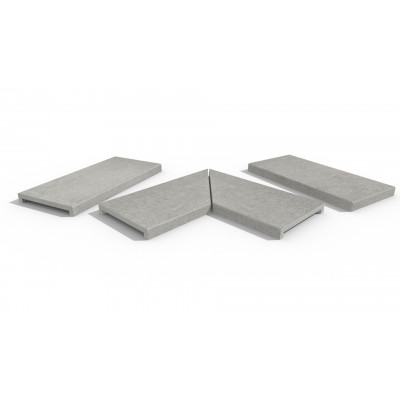 Silver Grey Porcelain 40mm Downstand Coping Stones