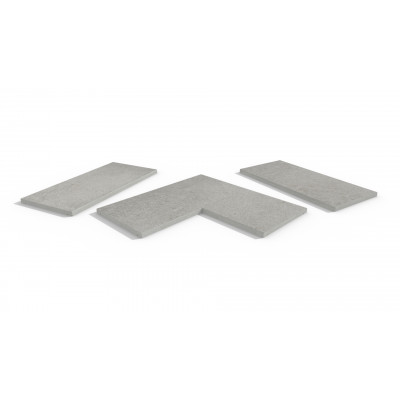 Silver Grey Porcelain 5mm Chamfered Coping Stones