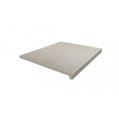 Slab Khaki Porcelain 40mm Downstand Step
