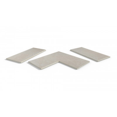 Slab Khaki Porcelain 20mm Bullnose Coping Stones