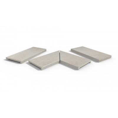 Slab Khaki Porcelain 40mm Downstand Coping Stones