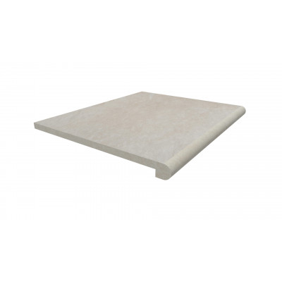 Slab Khaki Porcelain 40mm Bullnose Step
