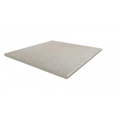 Slab Khaki Porcelain 20mm Bullnose Step