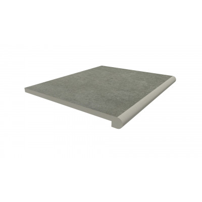 Steel Grey Porcelain 40mm Bullnose Step