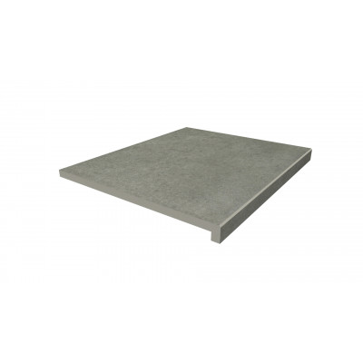 Steel Grey Porcelain 40mm Downstand Step