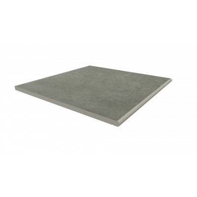 Steel Grey Porcelain 20mm Bullnose Step