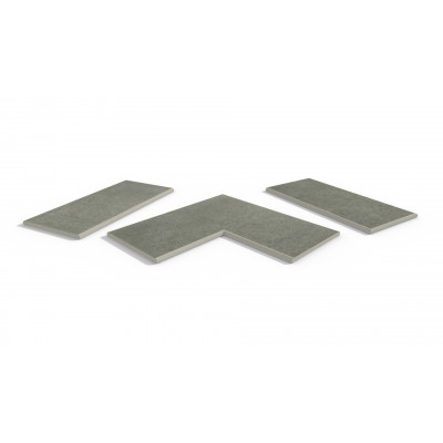 Steel Grey Porcelain 20mm Bullnose Coping Stones