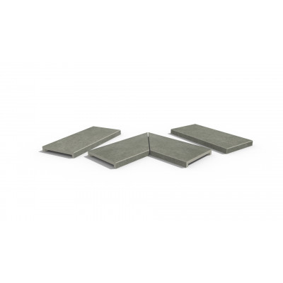 Steel Grey Porcelain 40mm Downstand Coping Stones
