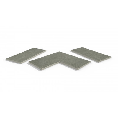 Steel Grey Porcelain 5mm Chamfered Coping Stones