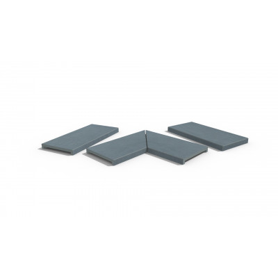 Trendy Black Porcelain 40mm Downstand Coping Stones