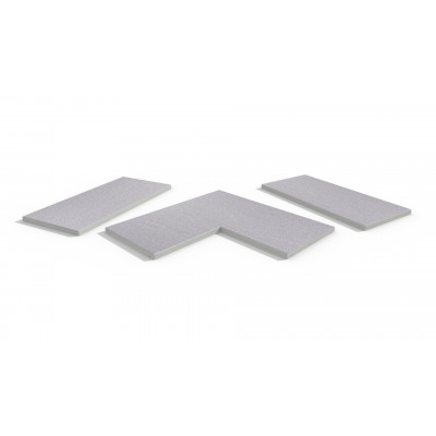 Urban Grey Porcelain 5mm Chamfered Coping Stones