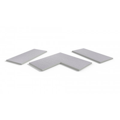 Urban Grey Porcelain 20mm Bullnose Coping Stones
