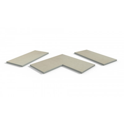 Warm Beige Porcelain 5mm Chamfered Coping Stones