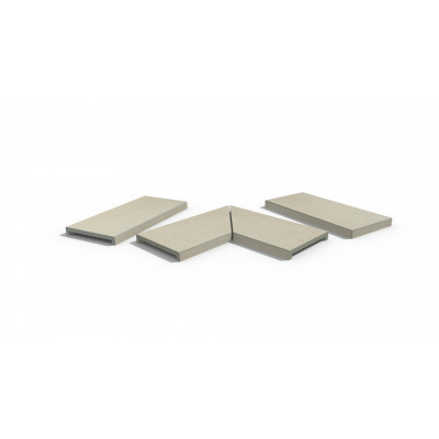 Warm Beige Porcelain 40mm Downstand Coping Stones