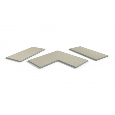 Warm Beige Porcelain 20mm Bullnose Coping Stones