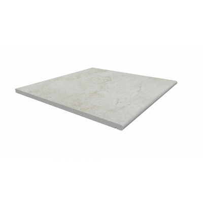 White Quartz Porcelain 20mm Bullnose Step