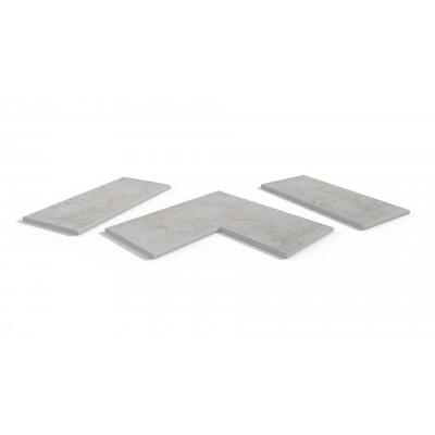 White Quartz Porcelain 20mm Bullnose Coping Stones