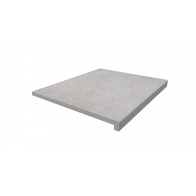 White Quartz Porcelain 40mm Downstand Step