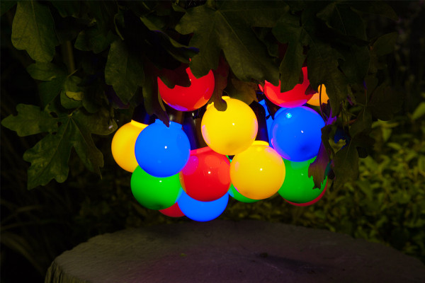 Solar LED Multi Colour Festoon Light String