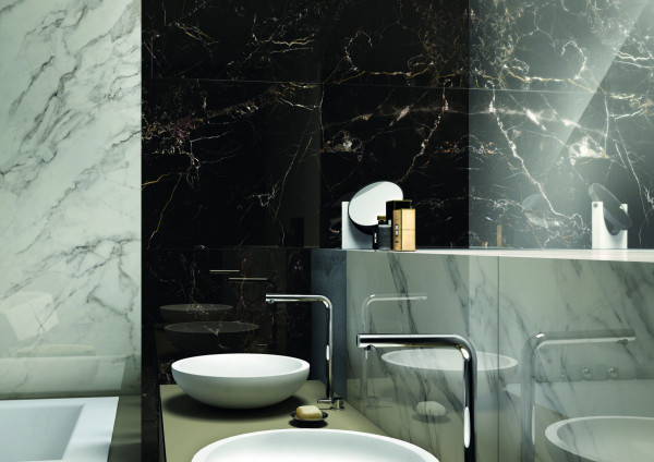 Nero Atlante Lucidato Porcelain Tiles