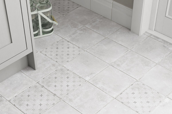 Image displaying a mix of Concrete and Concrete Decor Tiles
